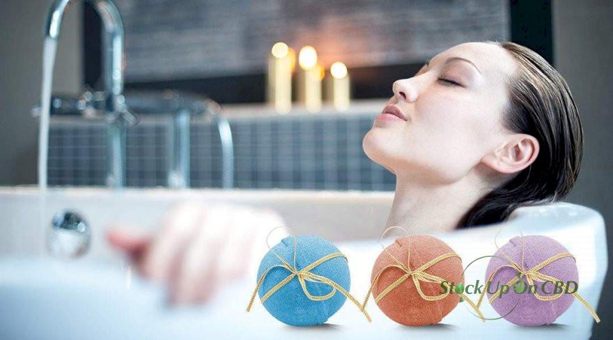 Relax with CBD Bath Bombs