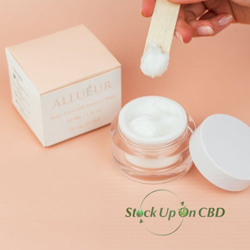 """Allueur CBD Beauty Products and CBD Cosmetics"" -Water Pack CBD Sleeping Mask"